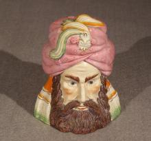Turk's Head Covered Jar, 19th Century