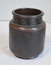 ÉMILE LENOBLE (1875-1940) Grand vase en grès sur