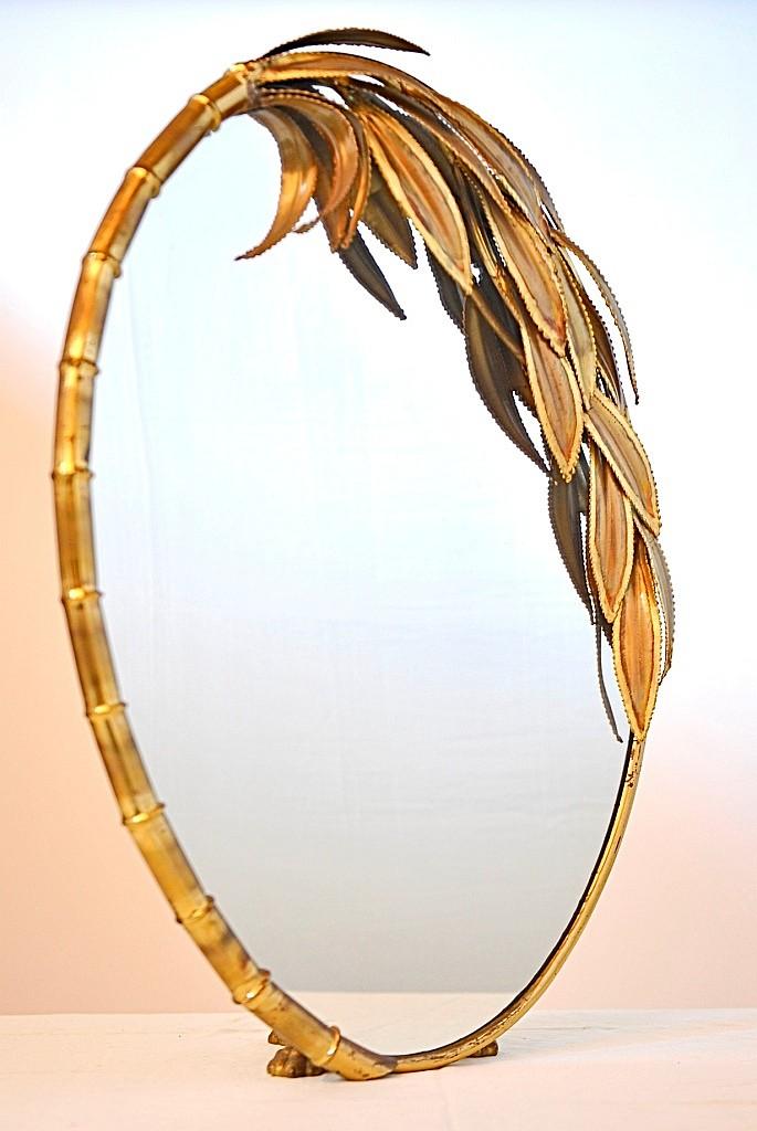 Miroir bambou maison jansen 73 x 50 cm for Miroir 50 x 60