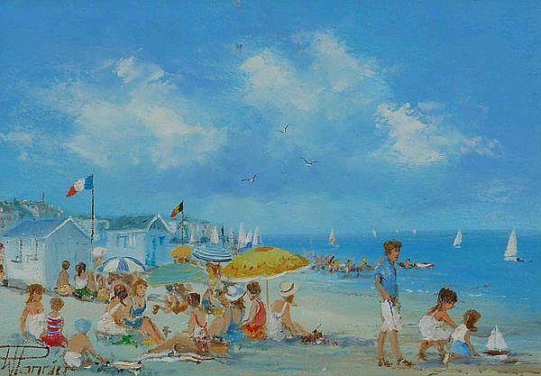 Willy Pannier - La plage en famille