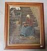PICARD Edmond    (1861-1899)       Paysanne huile sur toile signé en bas à droite 1886, Edmond Picard, Click for value