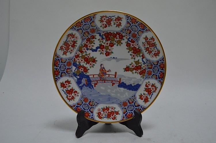 Japon plat en porcelaine maison koran sha illustration de ma - Maison de porcelaine ...