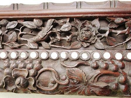 Dynastie quing superbe original miroir au cadre en bois d 39 for Cadre miroir