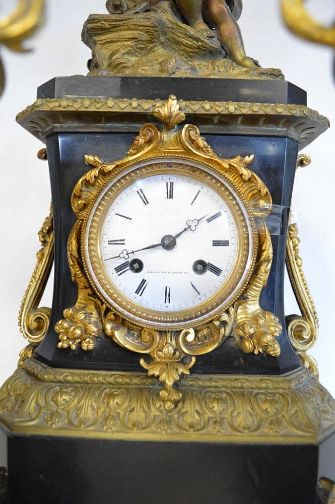 horloge garniture de chemin e napol on iii h 49 c. Black Bedroom Furniture Sets. Home Design Ideas