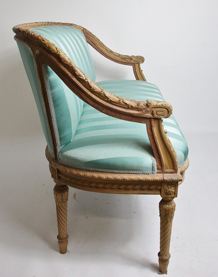 Peachtree Wood Furniture ~ French carved wood settee