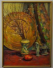 Avram Signed Oil on Canvas Still Life