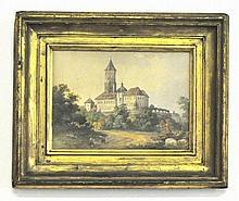 August C. Haun (1815-1894) Watercolor on Paper