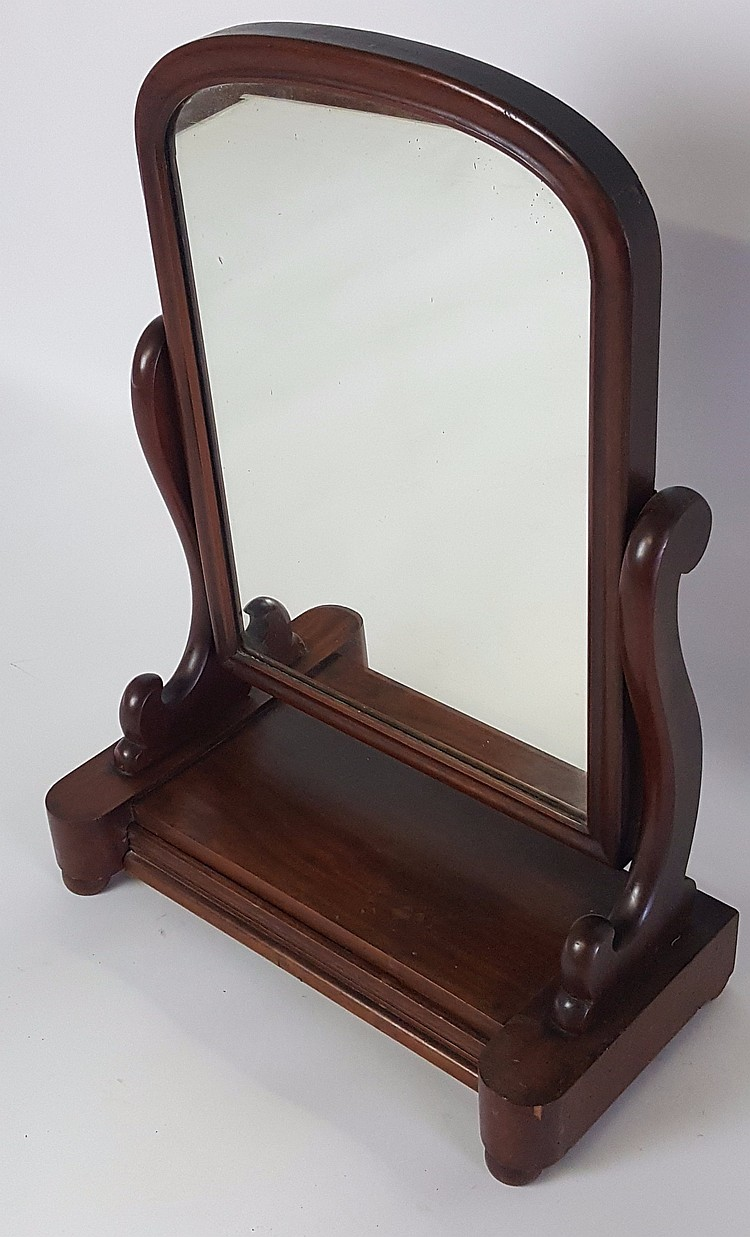 19th century mahogany shaving mirror for Shaving mirror