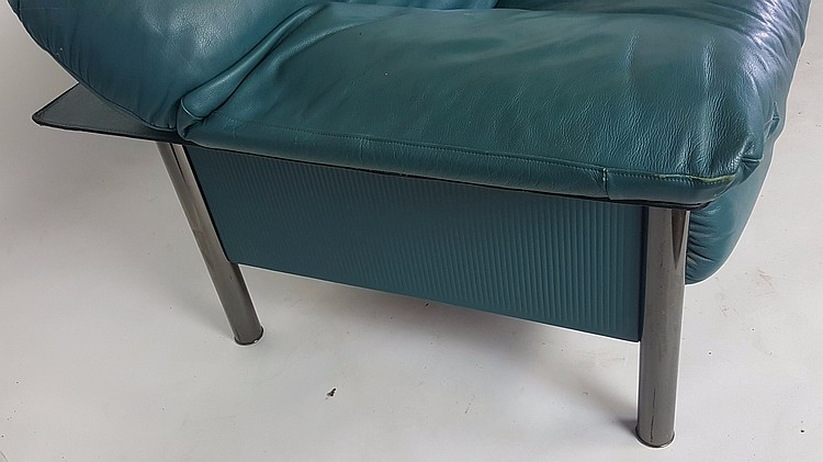 Teal leather sofa for Teal leather sofa