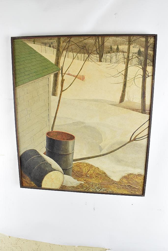 Jerry Pfohl (1929-2010, American) Winter Landscape