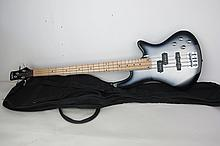 Pyle Pro Bass Guitar Pyle Pro bass guitar in black/gray color. 10 inches height, 45 inches width. 10