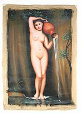 Oil on Canvas of Female Nude