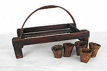 Vintage Antique Berry Stand with Baskets