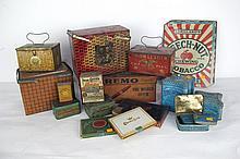 Eighteen Vintage Tobacco Tins