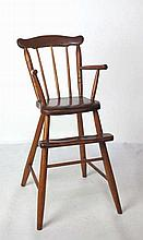Child Country American Pine High Chair