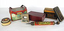 Six Vintage Containers