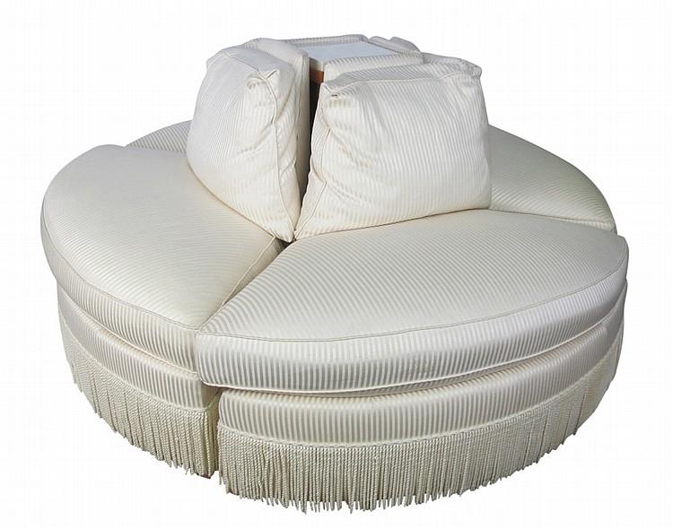 Four Piece Sectional Circular Sofa