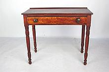 American Grain Painted One Drawer Console Table