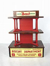 Store Display Shelf w Vintage Advertising Sign