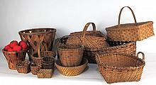 Group Lot Fourteen Vintage Baskets
