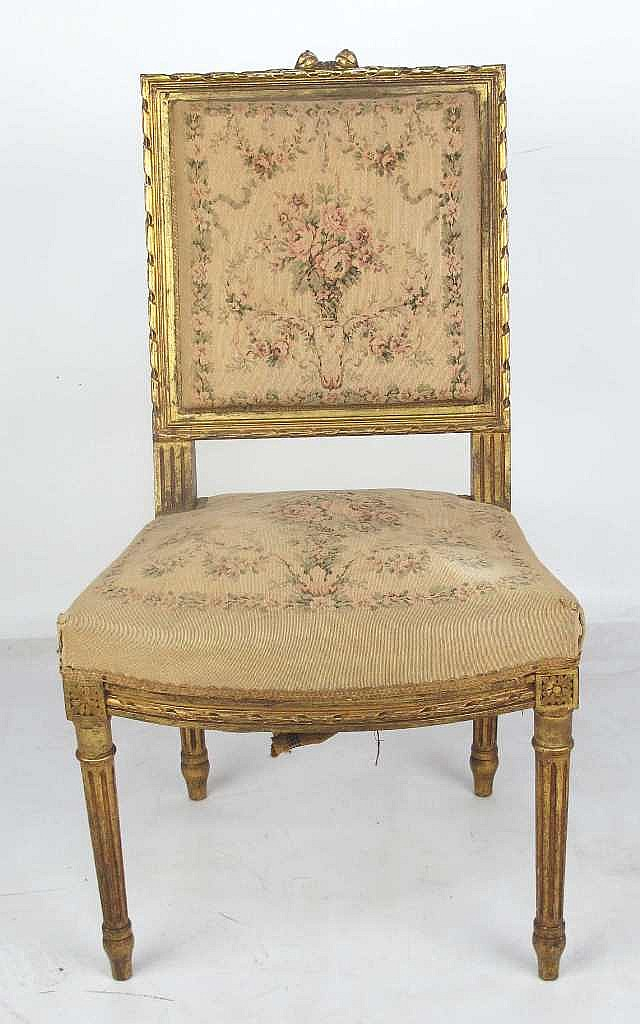 Peachtree Wood Furniture ~ French louis xvi gilt wood chair