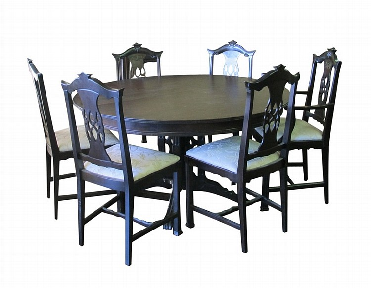10 piece mahogany dining room set