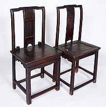Pair Of Compatible Antique Chinese Chairs