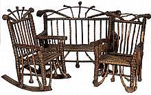 Reverend Ben Davis - Three Piece Rustic Porch Set