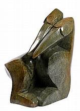 Zimbabwe Stone Sculpture Of Lovebirds