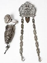 Two Silver Metal Belt Clips With Implements