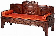 Chinese Rosewood Settee