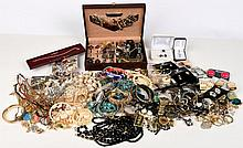 Extra Large Lot Of Estate Costume Jewelry