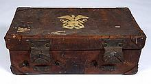 English Leather Trunk With Coat Of Arms
