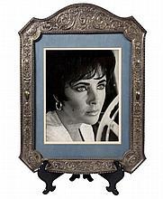 Signed & Framed Photograph Of Elizabeth Taylor