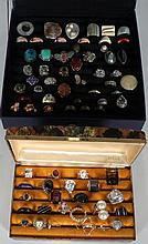 Extra Large Estate Lot Of Costume Rings