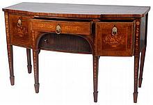 George III Mahogany Inlaid Sideboard