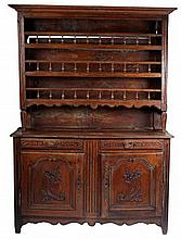 French Provincial Walnut Vaisselier