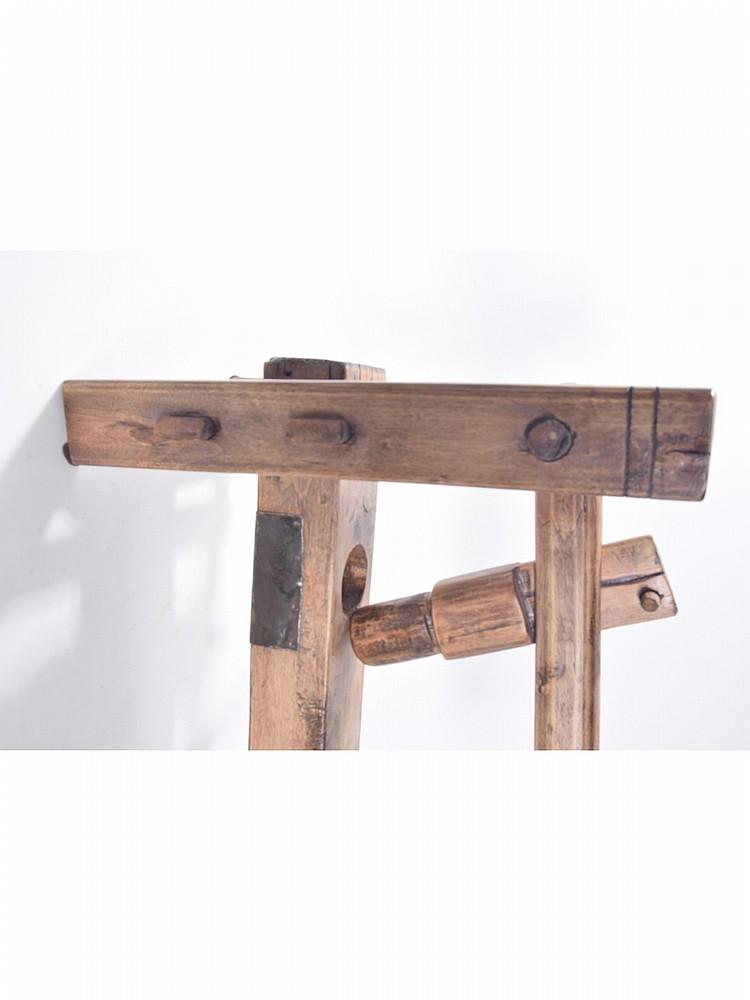 Peachtree Wood Furniture ~ Rustic wood press