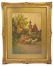 Watercolor by Thomas W Shields