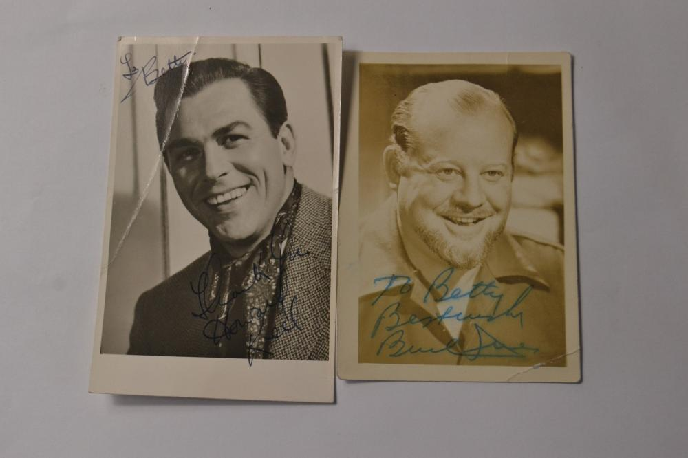 Signed vintage photo cards of HOWARD KEEL American actor and