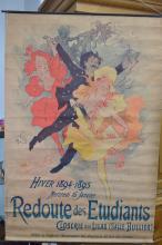 French school poster 'Redoute des Etudiants Hiver' 1895-1895 16 Janvier