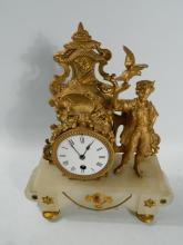 Gilded mantle clock