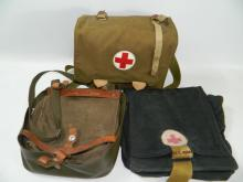 Two medical packs and extra bag