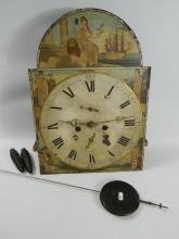 British Trade and Commerce clock face, with pendulum (working order)
