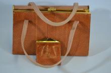 Mappin & Webb snakeskin handbag with matching coin purse