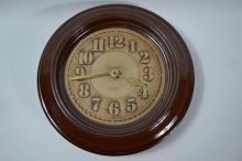 Brought Monchelsea large studio pottery wall clock D:27cm