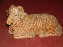 Stunning hand carved ram sheep