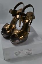 Dorothy Perkins pewter Saskia high heeled sandal [size 6 UK]