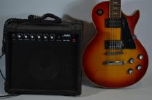 Eltco electric 6 stringed guitar with Solex SX10C amp