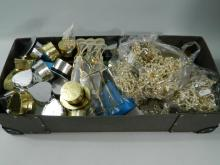 Box of costume jewellery and jewellery boxes